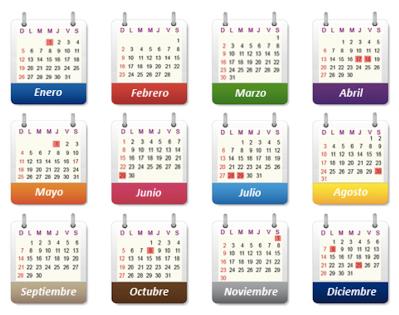 los meses del año template español 3